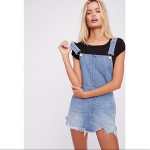 Free People | Distressed Denim Overall JumperDress
